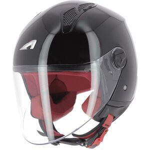 Astone Minijet Monocolor Jet hjelm Svart L