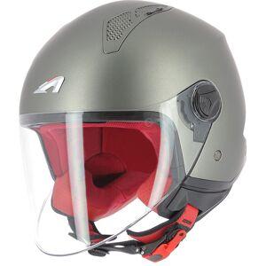 Astone Minijet Monocolor Jet hjelm Svart Grå L