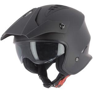 Astone Minicross Jet hjelm Svart M