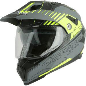 Astone Crossmax S-Tech Hjelm Grå Gul S