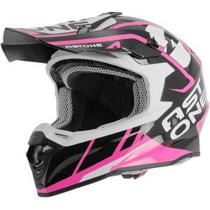 Astone MX 800 Trophy Motocross hjelm Rosa S
