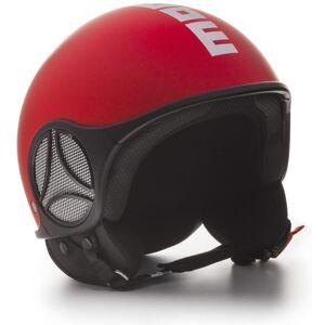 MOMO Minimomo Red Matt Logo White Jet hjelm 2XS Rød