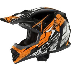 AXO Tribe Motocross hjelm XS Svart Oransje