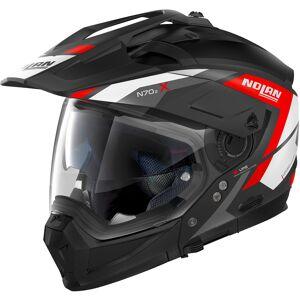 Nolan N70-2 X Grandes Alpes N-Com Hjelm M Svart Rød