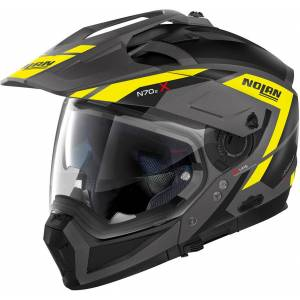 Nolan N70-2 X Grandes Alpes N-Com Hjelm M Svart Gul