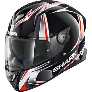 Shark Skwal 2 Replica Sykes Hvit LED hjelm XS Svart Hvit Rød