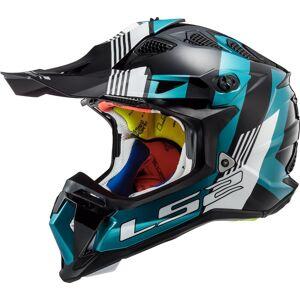LS2 MX470 Subverter Max Motocross hjelm XL Svart Blå