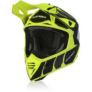 Acerbis X-Track Motocross hjelm L Svart Gul