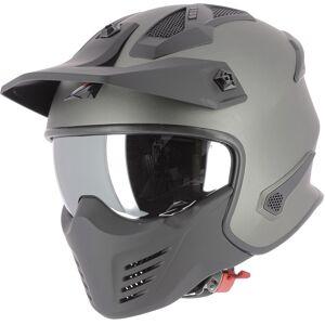 Astone Elektron Jet hjelm S Svart Grå