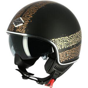 Astone Abstract Cali Jet hjelm M Svart