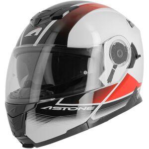Astone RT 1200 Vanguard Hjelm XS Svart Hvit Rød