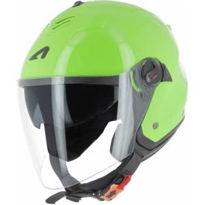 Astone Minijets Monocolor Jet hjelm S Grønn