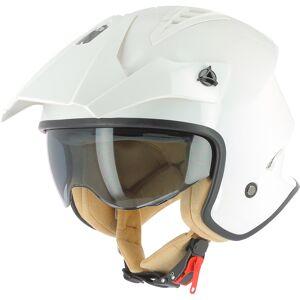 Astone Minicross Jet hjelm S Hvit