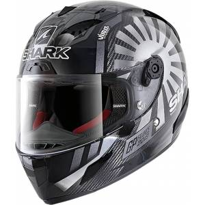 Shark Race-R Pro Carbon Replica Zarco GP France 2019 Hjelm S Svart Grå