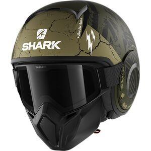 Shark Street-Drak Crower Jet hjelm M Svart Grønn
