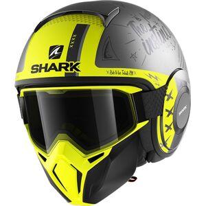 Shark Street-Drak Tribute RM Jet hjelm S Svart Gul