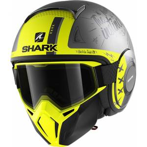 Shark Street-Drak Tribute RM Jet hjelm M Svart Gul