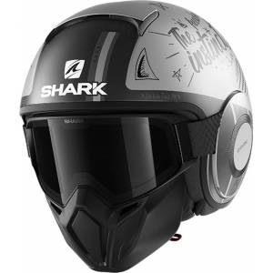 Shark Street-Drak Tribute RM Jet hjelm XS Grå