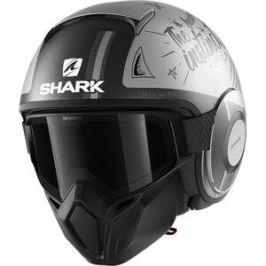 Shark Street-Drak Tribute RM Jet hjelm M Grå