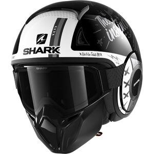Shark Street-Drak Tribute RM Jet hjelm XL Svart Hvit