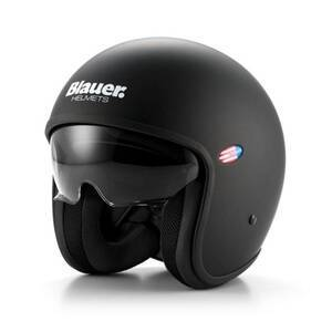 Blauer Motorsykkelhjelm Pilot, matte black, medium MC-tilbehør