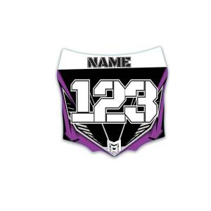 mx  crossdelar  dekaler Nummerplåtsdekaler till Cross - motoaction - Advance Purple