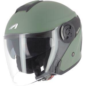 Astone DJ10-2 Monocolor Jet hjälm Grön L
