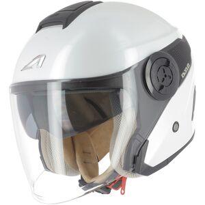Astone DJ10-2 Monocolor Jet hjälm Vit L