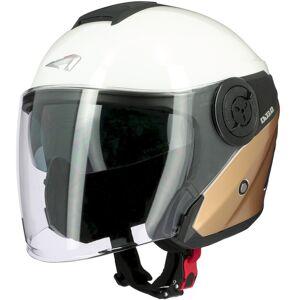 Astone DJ10-2 Radian Jet Hjälm XL Vit Guld