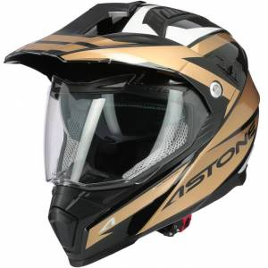 Astone Crossmax Ouragan Motocross hjälm S Guld