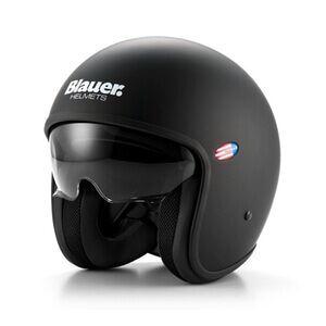 Blauer Motorcykelhjälm Pilot, matte black, small MC-tillbehör