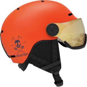Salomon Grom Visor Junior Ski Hjelm (Orange)