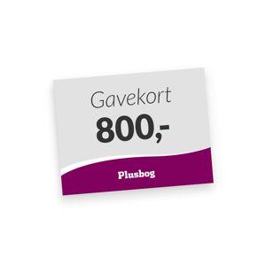 Plusbog digitalt gavekort 800 kr.