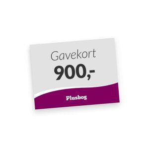 Plusbog digitalt gavekort 900 kr.