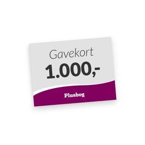 Plusbog digitalt gavekort 1000 kr.