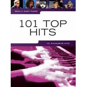 Really Easy Piano: 101 Top Hits lærebog