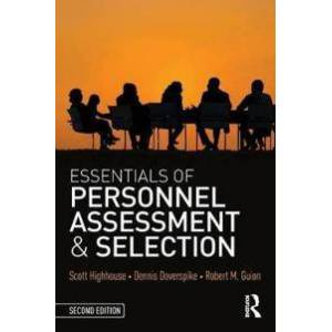 Scott Essentials of Personnel Assessment and Selection Nidottu