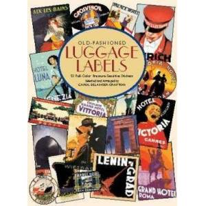 Old-fashioned Luggage Labels by Carol Belanger Grafton