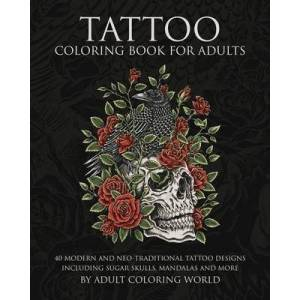 Tattoo Coloring Book for Adults by Adult Coloring World