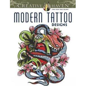 Creative Haven Modern Tattoo Designs Coloring Book by Erik Siuda