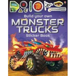 Build Your Own Monster Trucks Sticker Book by Simon Tudhope