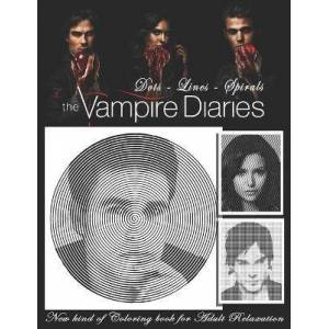 The Vampire Diaries Dots Lines Spirals by Relaxation Coloring Book