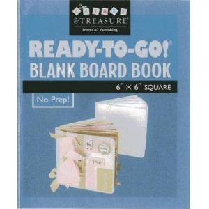 "Ready To Go! (R) Blank Board Book 6"" X 6"" White by C&t Publishing"