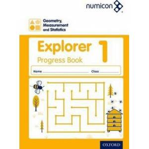 Numicon: Geometry, Measurement and Statistics 1 Explorer Progress Book by Sue Lowndes