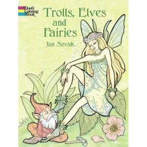 Trolls, Elves and Fairies Coloring Book by Jan Sovak