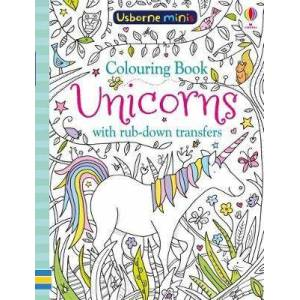 Colouring Book Unicorns with Rub-Down Transfers by Sam Smith