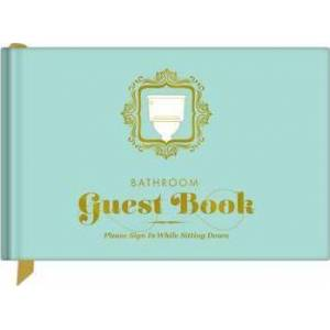 Knock Knock Bathroom Guest Book by Knock Knock