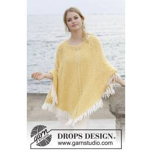 Drops - Garnstudio Soldansav DROPS Design - Poncho Strikkeoppskrift str. S - XXXL
