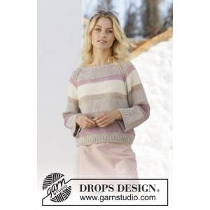 Drops - Garnstudio Rose Water av DROPS Design - Genser Strikkeoppskrift str. S - XXXL