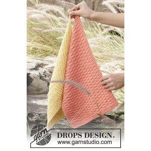 Drops - Garnstudio Brick Road by DROPS Design - Håndklær Strikkeoppskrift 31x45 cm